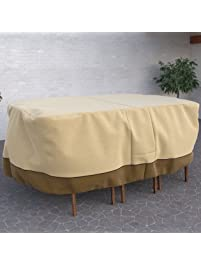 amazon patio furniture covers. dura covers fade proof rectangular or oval heavy duty patio table u0026 chair set cover amazon furniture m