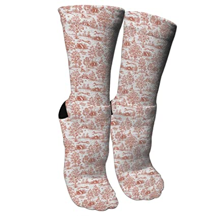 6d0e51d462f4 Amazon.com  KUGUANG Gray and Burgundy Greyhound Toile Crazy Socks 3D ...