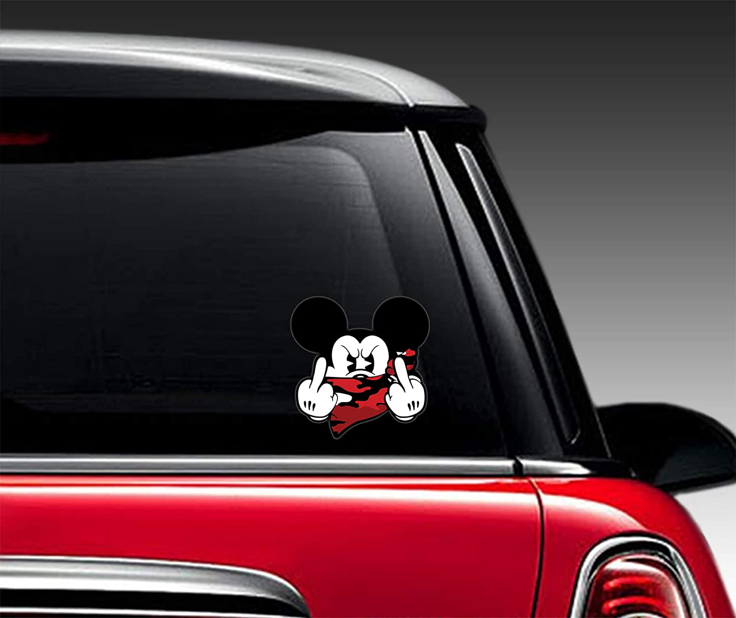 2 x PVC Stickers Mickey Mouse Decal B 32