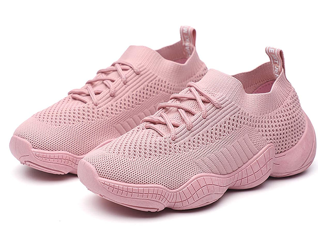 Fmshutp Womens Casual Walking Shoes Breathable Mesh Work Lace-up Sneakers