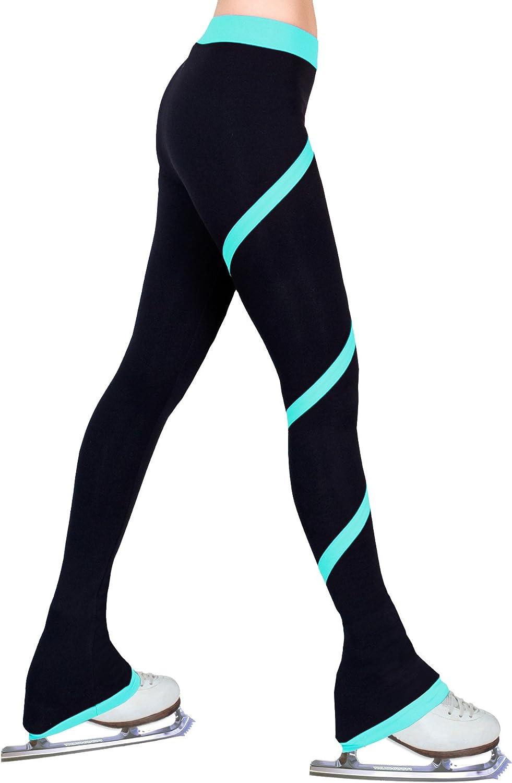 Figure Skating Spiral Polartec Polar Fleece Pants (Turquoise, Child Medium)