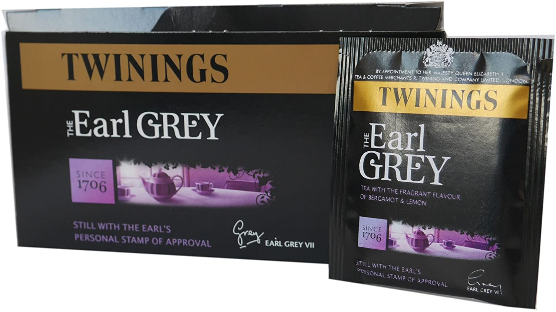 Twinings Earl Grey Tag & enveloppes Sachets de thé 1 boîte de 50