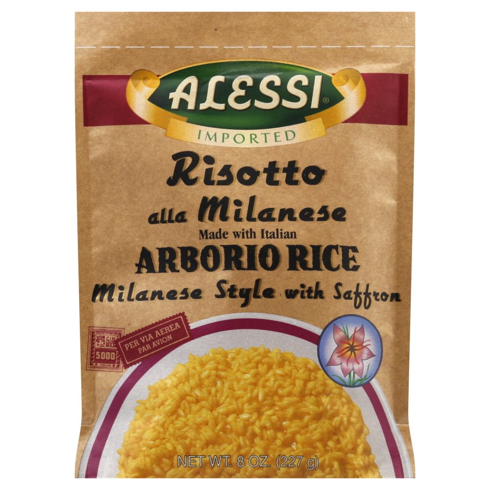 Alessi Risotto Milanese Style with Saffron 8.0 OZ(Pack of 3) by Alessi