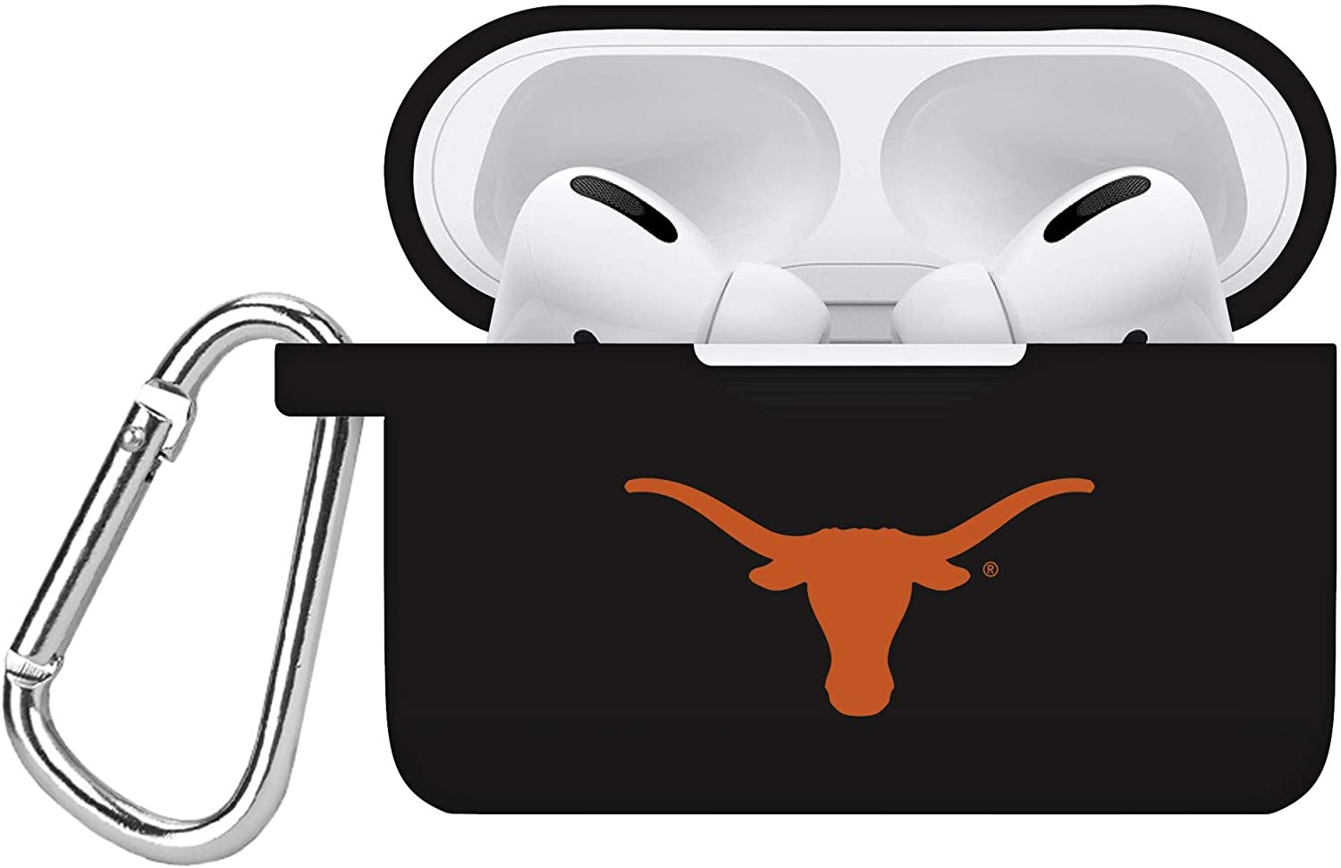 AFFINITY BANDS Texas Longhorns Silicone Case Cover Compatible with Apple AirPods PRO Battery Case - Black