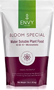 ENVY Bloom Special Professional Grade (10-50-10) Water Soluble Plant Food - Promotes Larger, More Beautiful Blossoms (3.0 lb)