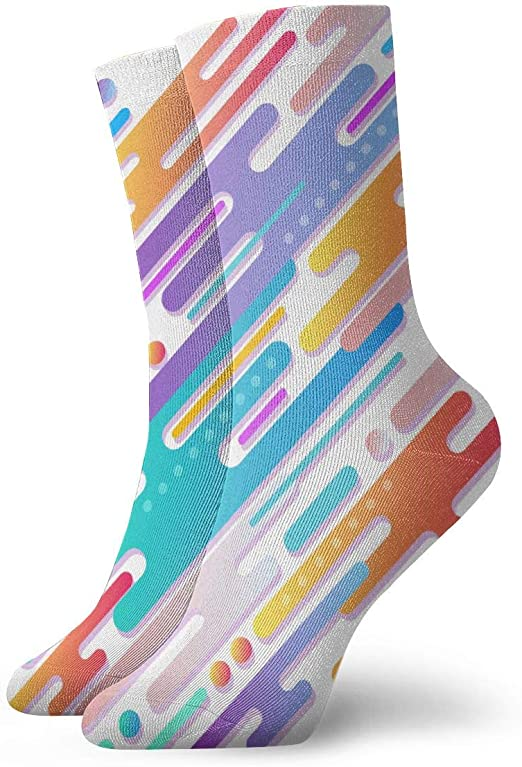 Amazon Com Friendever Mens Dress Socks Pack Warna Warni Abstrak