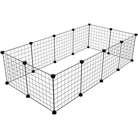 Tespo Dog Playpen, Indoor Portable Metal Wire Yard Fence For Small Animals,  Popup Kennel