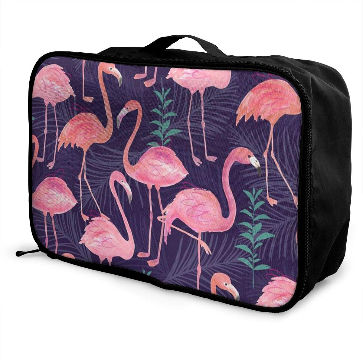 Cute Flamingo Travel Duffel Bag Waterproof Fashion Lightweight Large Capacity Portable Luggage Bag