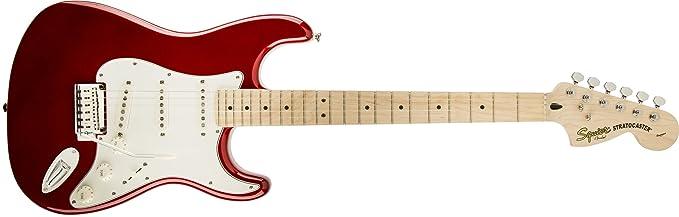 Squier por Fender Standard Stratocaster Guitarra eléctrica - Candy Apple rojo - arce diapasón: Amazon.es: Instrumentos musicales
