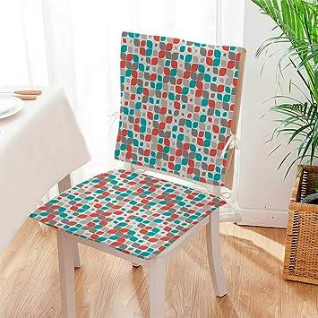 Amazon.com: Cojín de asiento retro con diseño de mosaico con ...