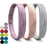 YEFOD 3pcs/Set Fitbit Flex 2 Straps, Silicone Replacement Bands Accessories Wristband Bracelet with Metal Clasp Wrist Band Strap for Fitbit Flex 2 Fitness Activity Tracker