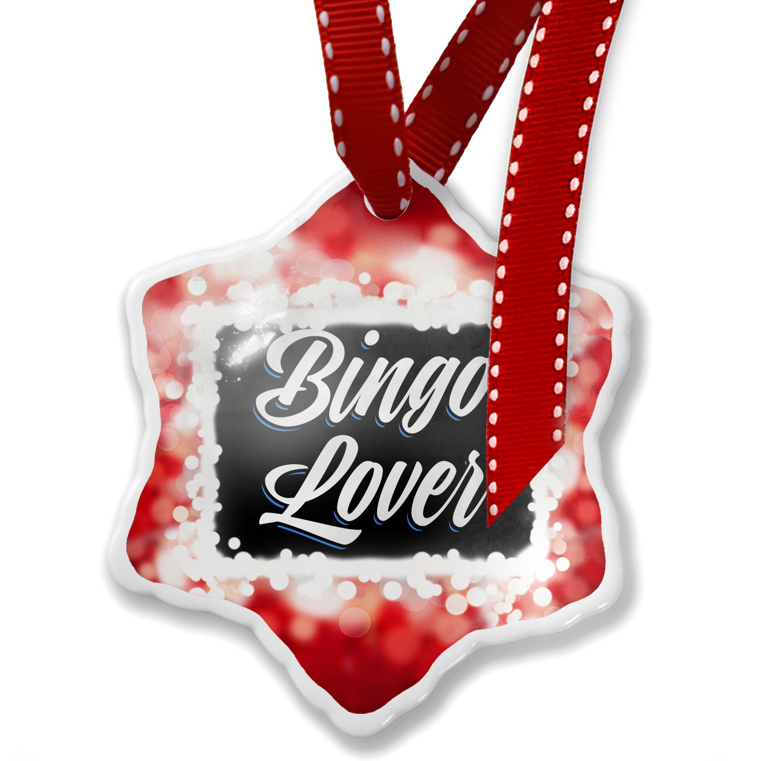 Christmas Ornament Classic design Bingo Lover, red - Neonblond