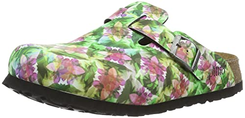 5RISGBuVSM Boston Birko-Flor Softfootbed, Zoccoli Donna, Multicolore (Caleidoscope Brown), 37 EU