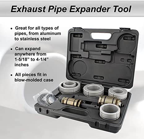 Amazon Com Abn Exhaust Pipe Expander Tool Tail Pipe Expander Exhaust Expander Exhaust Pipe Stretcher Kit 1 5 18 To 4 1 4 Inch Automotive