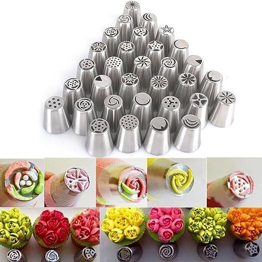 3pcs Russische Glasur Spritz Düse Gebäck Spitzen Kuchen Sugarcraft Dekoration