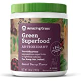 Amazing Grass Green Superfood Antioxidant: Super Greens Powder with Spirulina, Elderberry, Bilberry & Probiotics, Sweet…