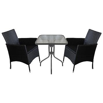 3 piezas. Sillas Bistro Juego de muebles de jardín - Mesa de jardín ...