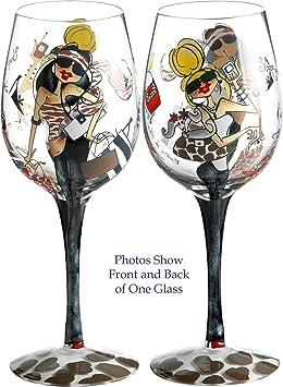 Bottom S Up 15 Ounce Shop A Holic Handpainted Wine Glass Brianiserrolt