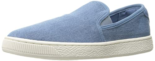 buy popular a23a5 924e0 Puma Basket Classic Slip on Denim Fashion Sneaker: Amazon.co ...