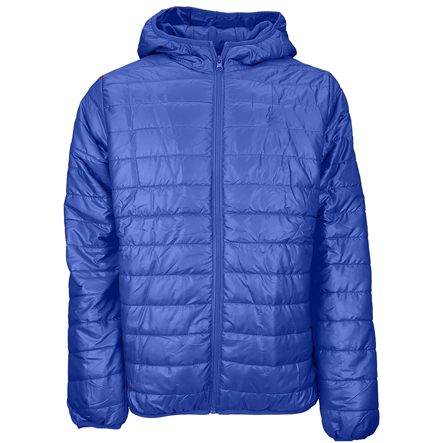 67c688278 Soulstar Mens Hester Wuilted Bubble Jackets Lightweight Hooded Puffer Coat  - Royal Blue