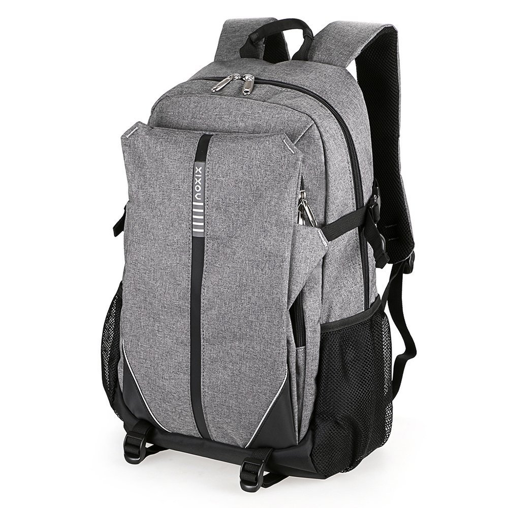 XIXOV Laptop Backpack, Water Resistant Business Backpack with USB Charging Port Under 17-Inch Laptop and Notebook