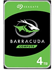 Seagate BarraCuda 4TB Internal Hard Drive HDD – 3.5 Inch SATA 6 Gb/s 5400 RPM 256MB Cache for Computer Desktop PC – Frustration Free Packaging (ST4000DM004)