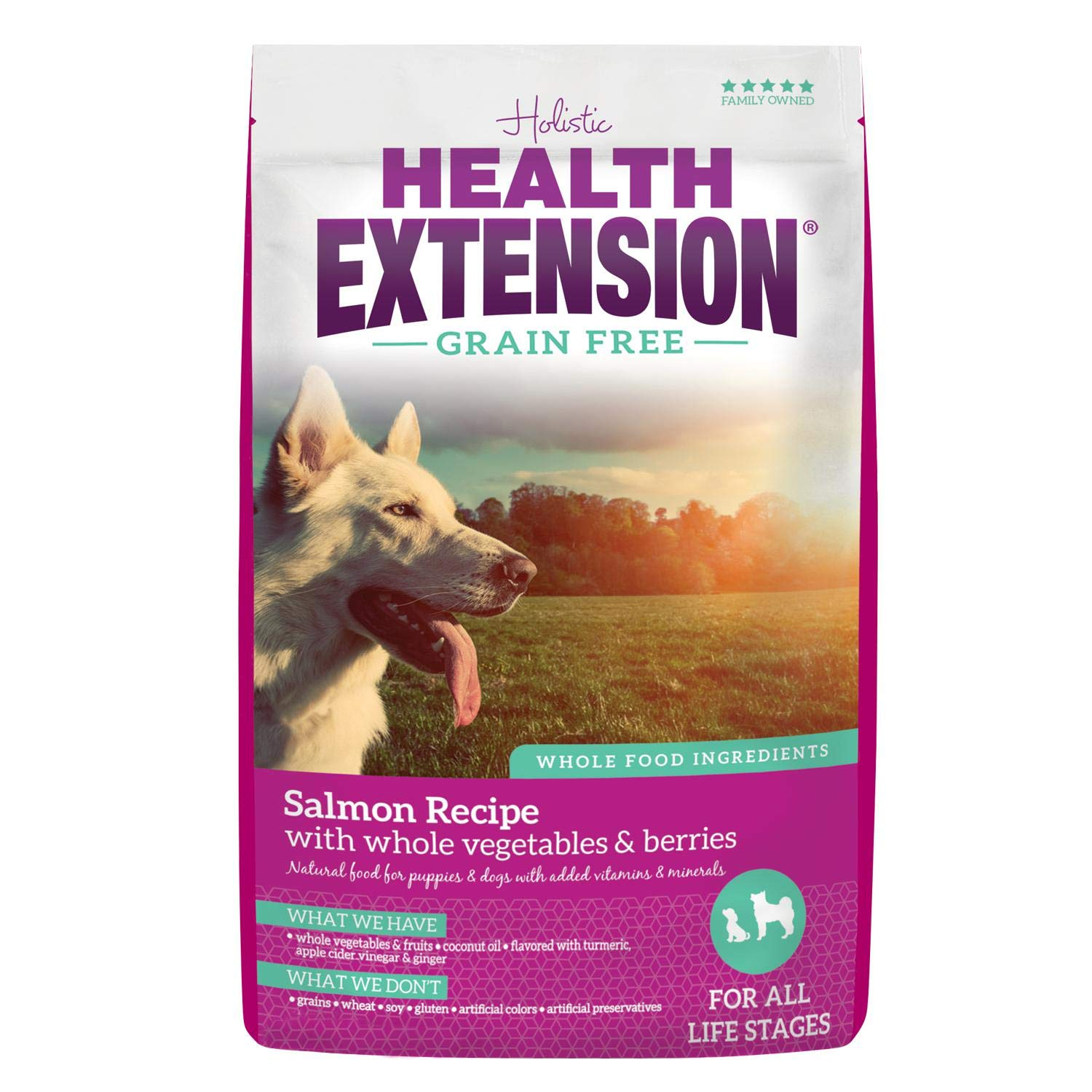 Health Extension Grain Free Dry Dog Food - Salmon Recipe, 23.5lb by Health Extension