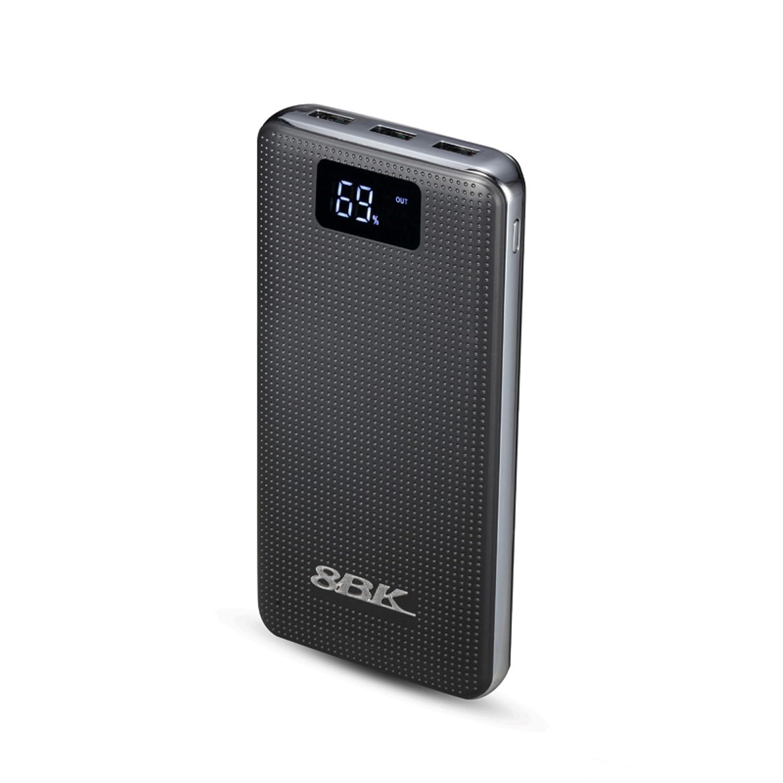 8BK Ultra High Capacity 20000 mAh Power Bank with Digital Display (893B-BlacK)