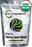 Extra Strength Premium Pure Organic Horny Goat Weed Extract Powder (Epimedium with Icariins), Concentrated, Natural Energy Booster, 100 grams