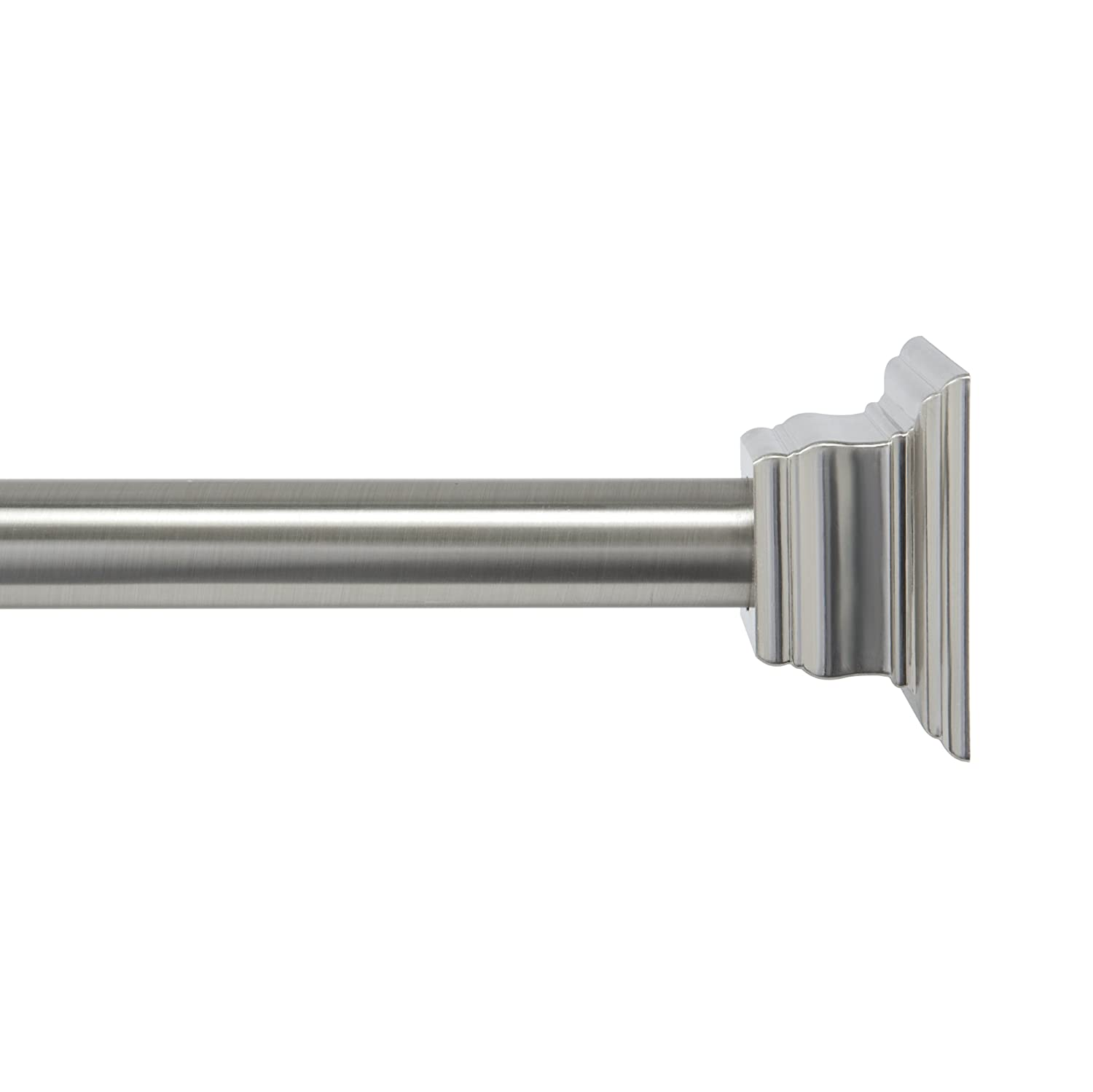 Kenney KN60954 Claire Tension Shower Curtain Rod, Brushed Nickel