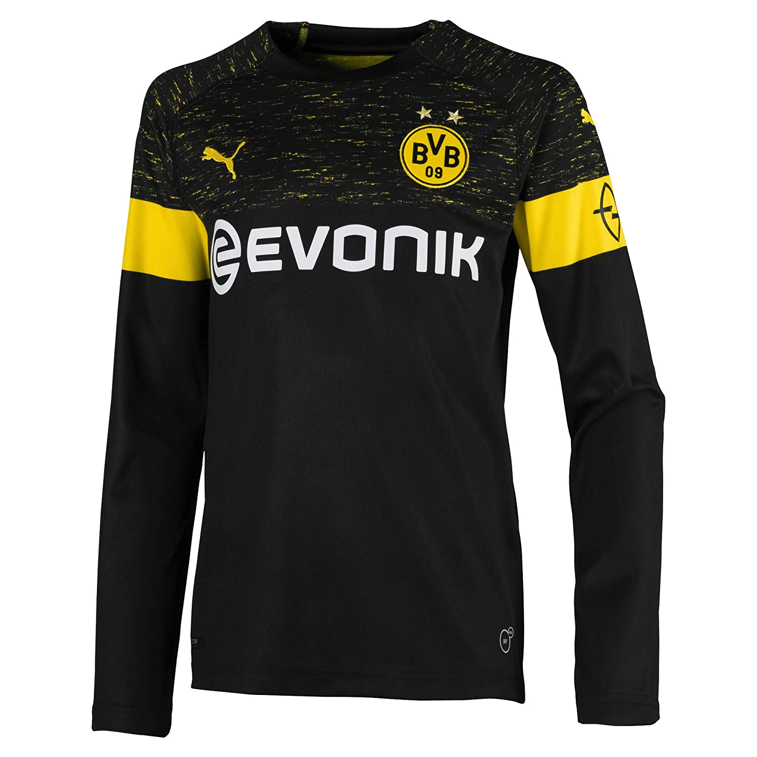 Puma Kinder BVB Ls Away Shirt Replica Jr Evonik with Opel Logo Trikot