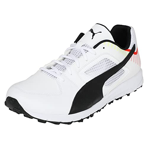 Team Rubber White Cricket Shoes
