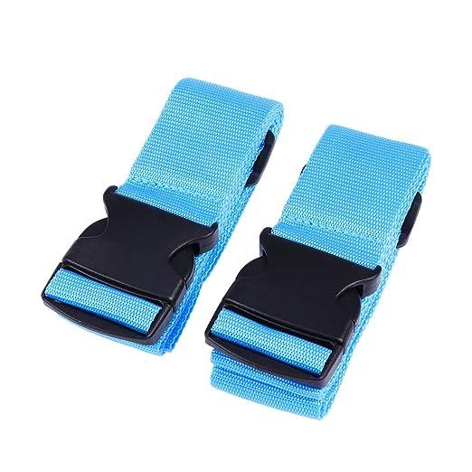 2 cintas de equipaje Heavy Duty Straps Utility Strap para deportes al aire libre, mochila