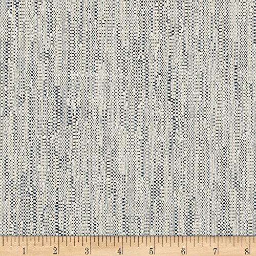 SoleWeave Outdoor Woven Basketweave Napeague Blues Fabric By The Yard Woven Basketweave