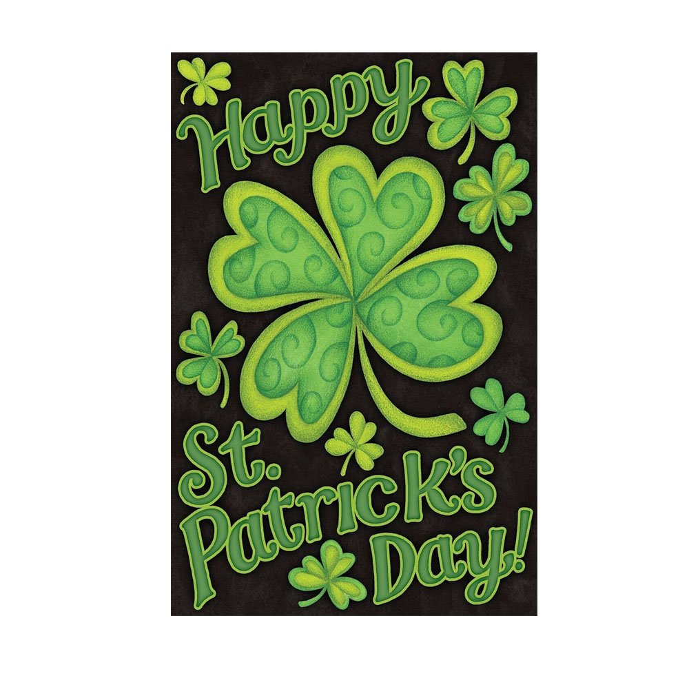 Amazon.com : Shamrocks St. Patrick\'s Day Garden Flag Decorative ...