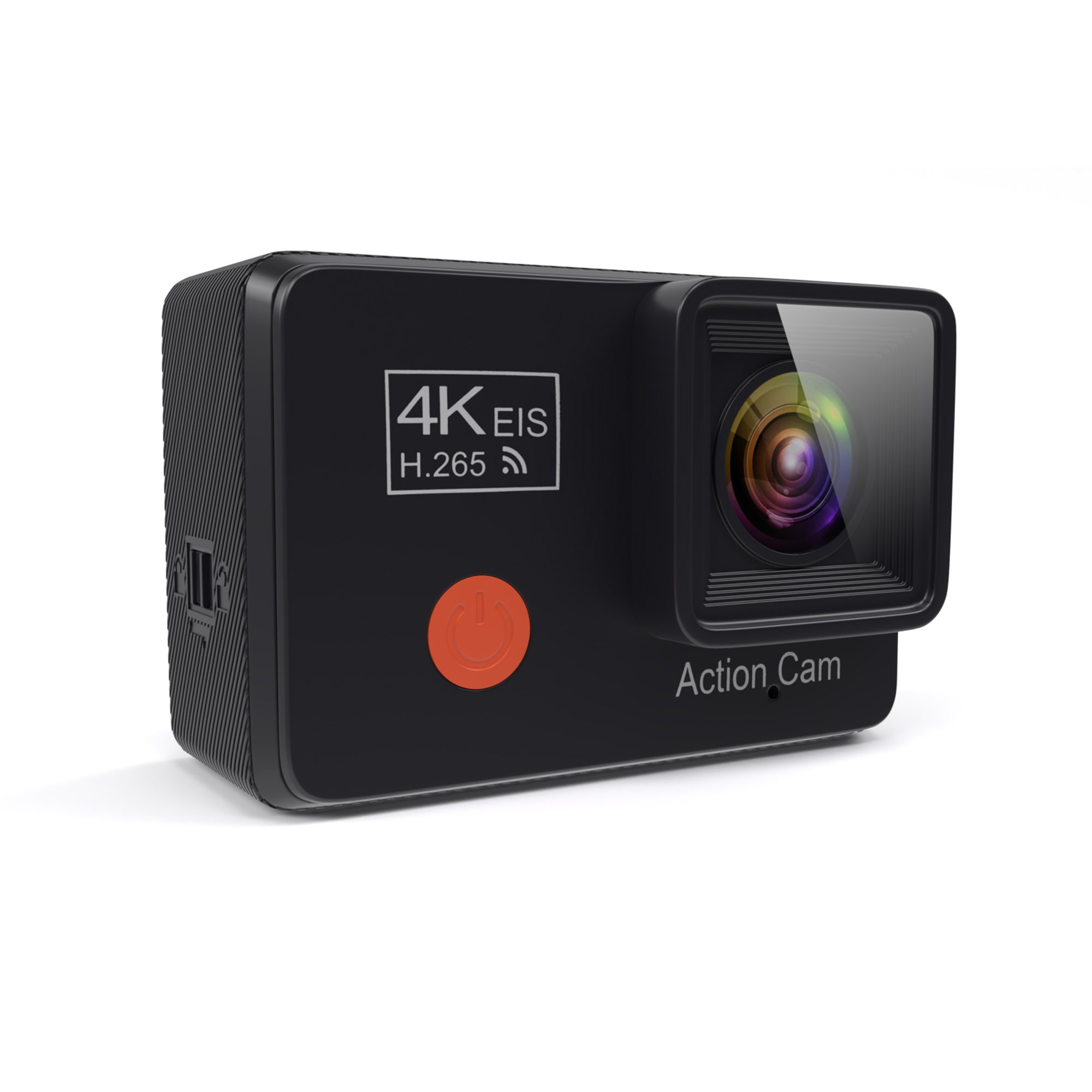 PRUVUE PV53 4K Action Camera 12MP SONY HD Image, 4K/30fps Resolution, Hi3559 Chipsets, 2.0'' LCD Touchscreen, Waterproof, EIS, Wi-Fi, With 2 Rechargeable Batteries, Accessories Kit, Portable Package by PRUVUE