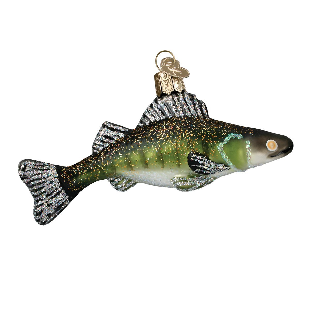 Old World Christmas Ornaments: Walleye Glass Blown Ornaments for Christmas Tree