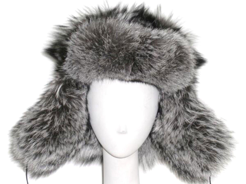 Natural Raccoon Trooper Hat-Unisex L by FursNewYork