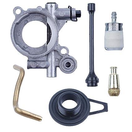 Amazon com: Oil Pump Worm Gear Oil Hose Line Filter Kit for