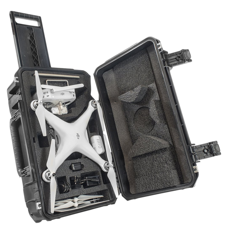 CasePro CP-PHAN4-CO DJI Phantom 4 Drone Carry-On Hard Case (Black)