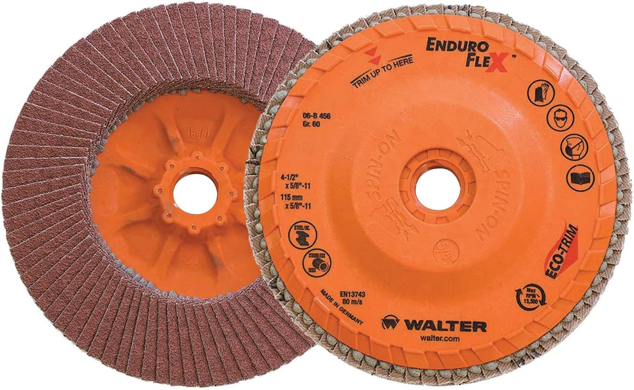 Diameter Pack of 10 Walter 15F006 COOLCUT Abrasive Flap Wheel - Abrasive Wheels and Discs 60 Grit Surface Finishing Wheel with 1-1//2 in
