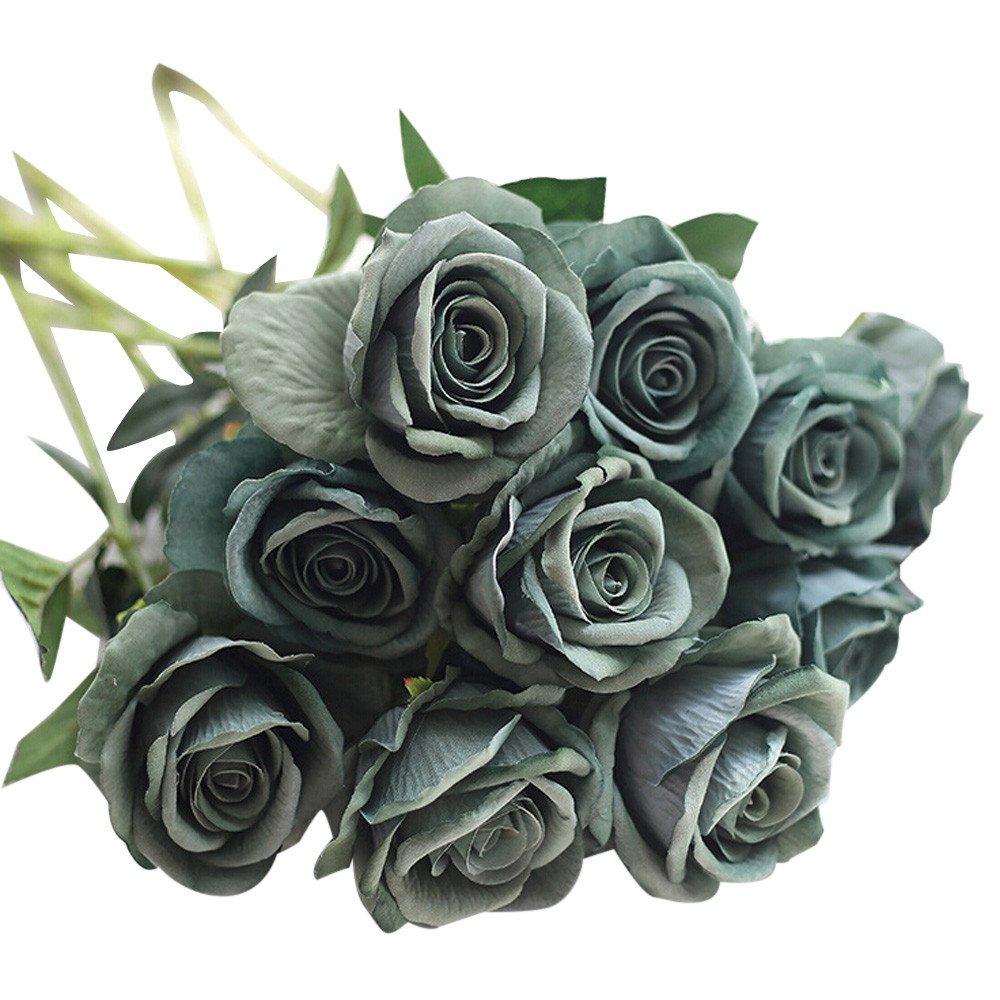 Coffret Fleurs Artificielles Fausses Petites Fleures Couronne Fleurs Artificielles Rtificielle Faux Roses Flanelle Fleur Bouquet De Mari/éE Mariage F/êTe De La Maison D/éCor A