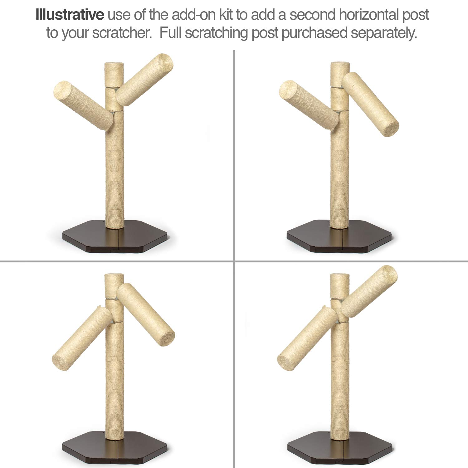New Branch-Out Cat Scratching Post. Tall Vertical Post with Innovative Tree Branch Design. Add-on kit /& Replacement Posts Available PetFusion