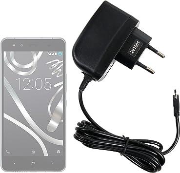 DURAGADGET Cargador (2 Amperios) para Smartphone BQ Aquaris U Lite/U Plus/U / X5 Plus: Amazon.es: Electrónica
