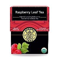 Organic Raspberry Leaf Tea - Kosher, Caffeine-Free, GMO-Free - 18 Bleach-Free Tea...