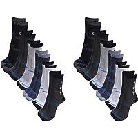 Zacharias Men's Poly Cotton Socks (Pack of 12, Multi-Coloured)