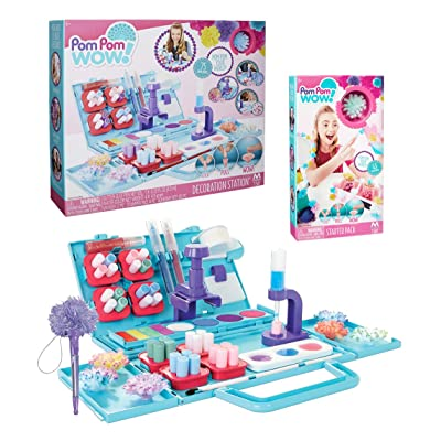 Pom Pom Wow Decoration Station PLUS Starter Pack Refill Set and Exclusive Pom Pom Pen: Toys & Games