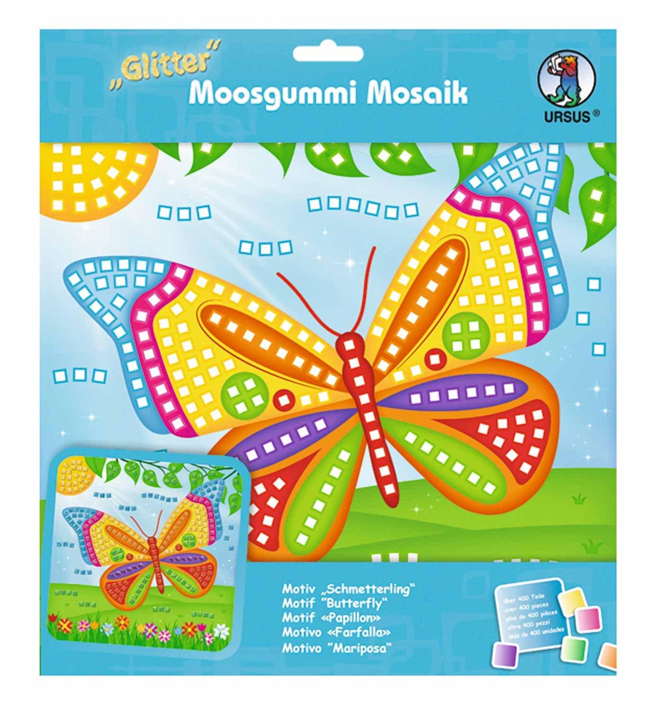 Ursus 8420001–Musgo goma mosaico de Princesa con Glitter, 434piezas, multicolor