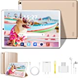 Tablet 10 inch, Android 9.0 Quad-Core Processor Tablet PC with 4GB RAM, 64GB Storage, Dual Sim Card Slots, Dual Camera…