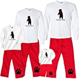 Footsteps Clothing Holiday Bear With Bowtie Matching Family Pant Sets